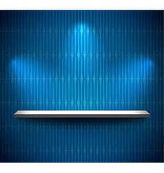 Shelf in a blue room vector image