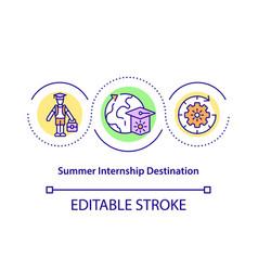 Summer internship destination concept icon vector