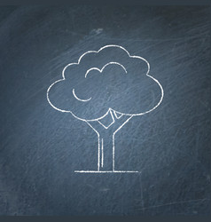 tree icon chalkboard sketch vector image