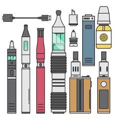 Vape device cigarette vaporizer vapor juice vector