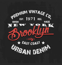 vintage print design on t-shirt vector image