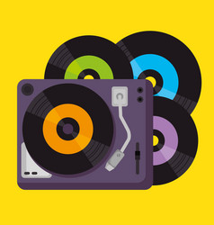 vinyls music festival label vector image