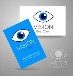 vision eye clinic vector image