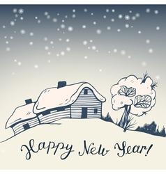 Winter vector image