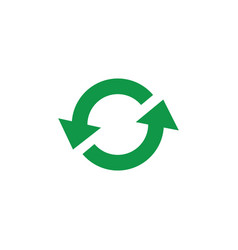 zero waste and recycling symbol with green arrows vector image