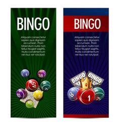 bingo lotto lottery banners template vector image vector image