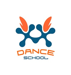 Dance school logo template Modern style vector image vector image