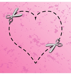 Love coupon borders vector image vector image