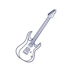 rock electric guitar vector image