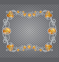 amber frame vector image vector image