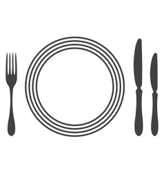 Etiquette Proper Table Setting vector image vector image