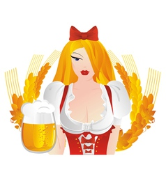 german dress with beer mugs vector image vector image