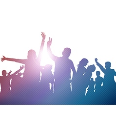 Party crowd silhouettes vector image
