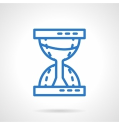 Time concept Sandglass blue line icon vector image vector image