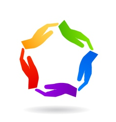 United Hands Logo vector image vector image