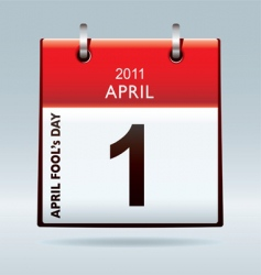 April fools day calendar vector image