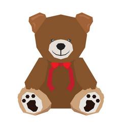 isolated geometric teddy bear vector image