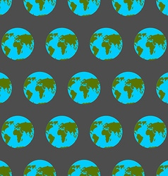 Planet Earth with continents and oceans seamless vector image