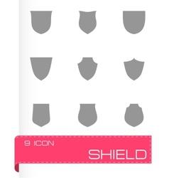 shield icon set vector image