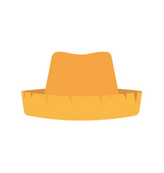 white background with straw hat vector image