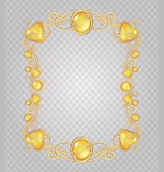 amber frame vector image