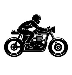 cafe racer silhouette 001 vector image vector image