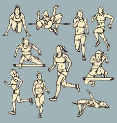 Female Runner Sport vector image vector image