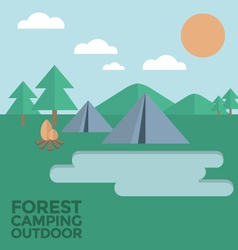 Forest Camping Outdoor vector image vector image