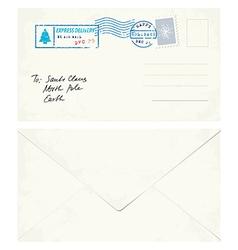 Postcard Letter to Santa vector image
