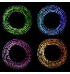 Scribble circle vector image