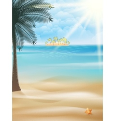 Seaside view poster template vector image vector image
