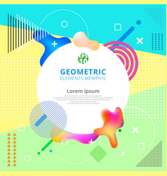 abstract geometric elements memphis styles trendy vector image