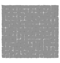 Abstract gray deformed squares vector
