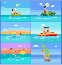 activities of summer sport vector image