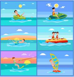 Activities of summer sport vector