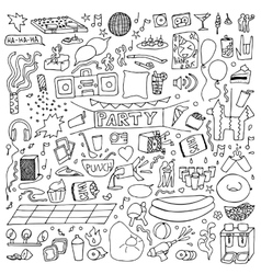 Adult Party Doodle Set vector