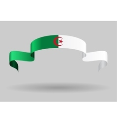 Algerian flag background vector