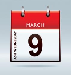 Ash wednesday calendar vector