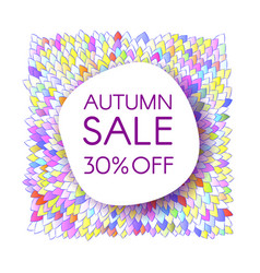 Autumn sale banner with bunch of saturated leaves vector
