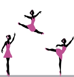 Ballerinas dancing vector
