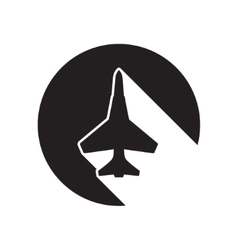 black icon with fighter vector image