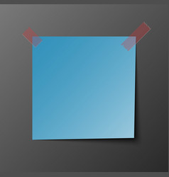 blue post note paper with shadow vector image