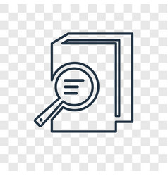 book and magnifying concept linear icon isolated vector image