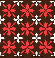 brown spanish ornamental ceramic tile vector image