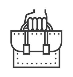 business portfolio line icon sign vector image