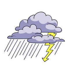 Cartoon image of storm icon rainstorm symbol vector