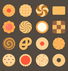 collection of cookie and biscuits set 2 vector image