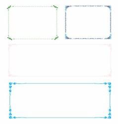 Colorful Frame Border Set vector image