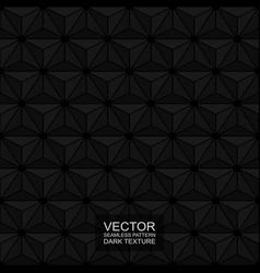 Dark seamless polygonal 3d texture - black vector