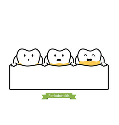 Dental plaque or tartar - cartoon outline style vector